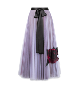 purple rose tulle skirt