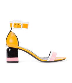multicolor block sandal