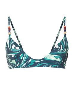 blue marbled 'swirl' bikini