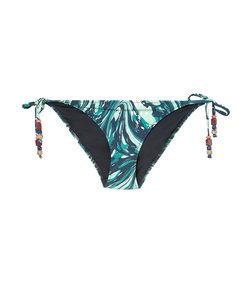 blue marbled 'swirl' bikini briefs