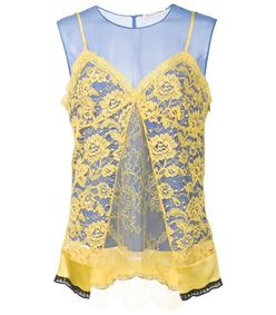 blue & yellow 'sonora' blouse