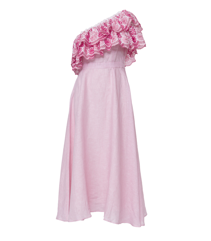 pink webster x lane crawford rose belle dress