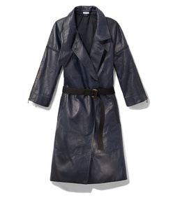 tech bonded leather coat