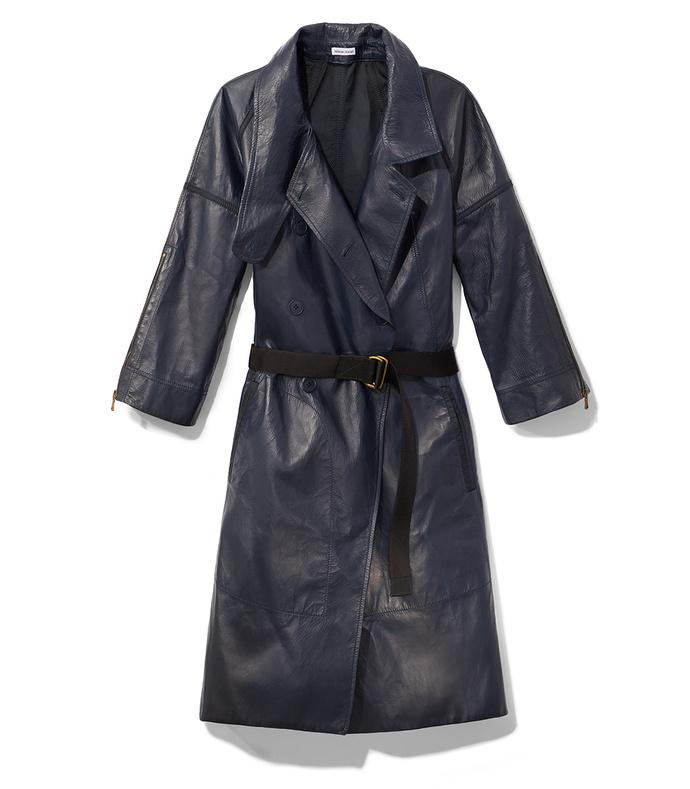 tech bonded leather coat