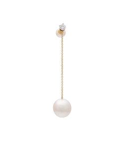 gold virus pearl earring