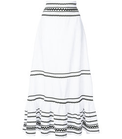 black & white long fiesta skirt