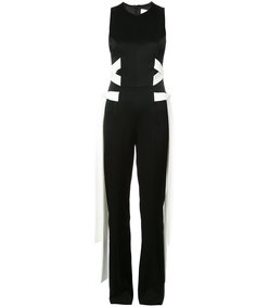 black & white laced jumpsuit