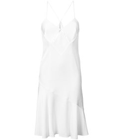 white midi slip dress