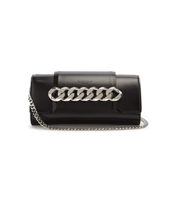 black infinity mini chain bag