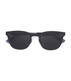 black retro square sunglasses