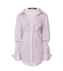 the webster x lane crawford pink striped shirt dress