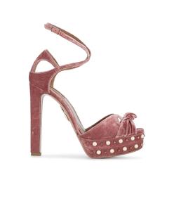 pink harlow pearl embellished sandals