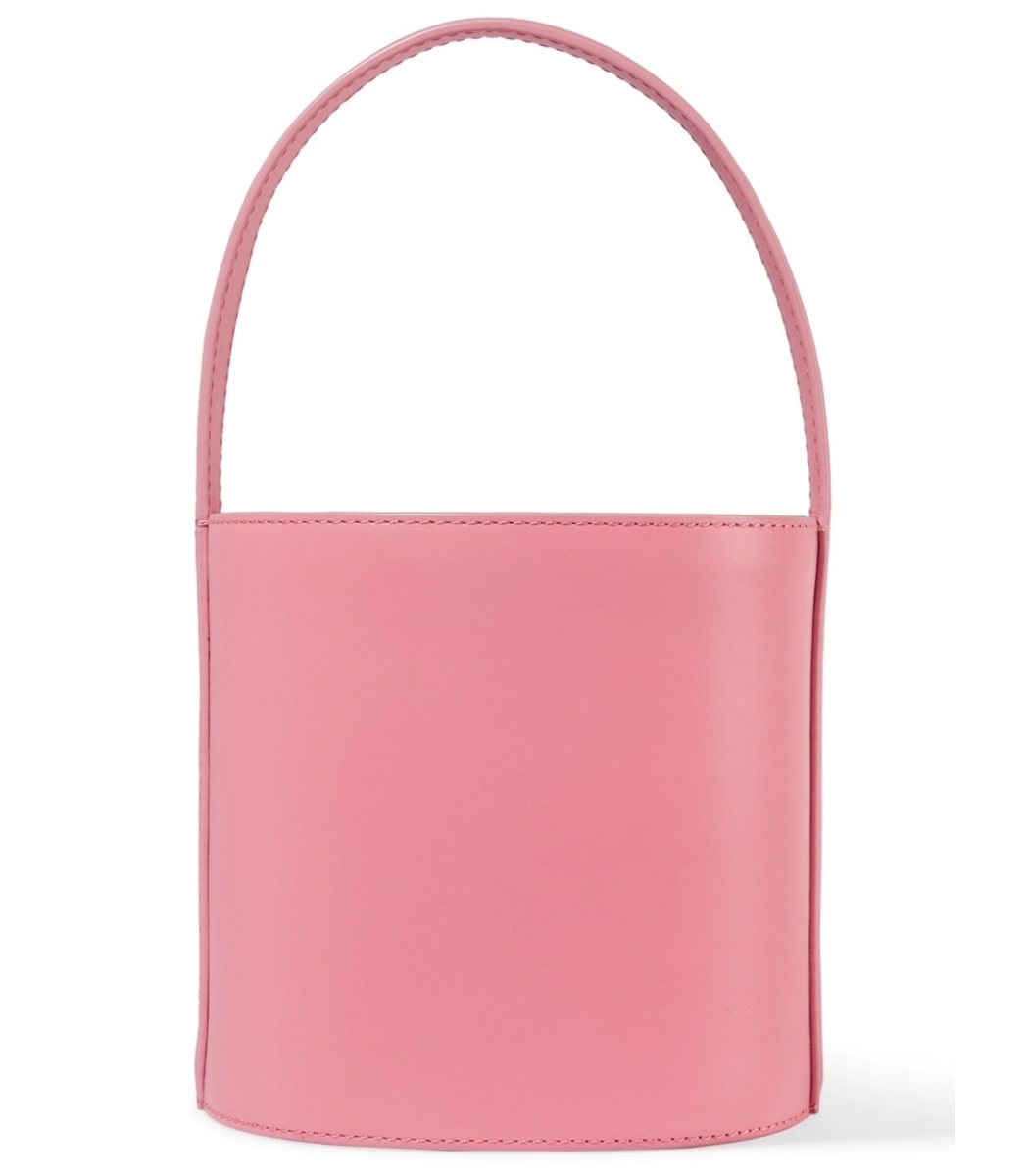 Ladies Pink Bissett Leather Bucket Bag