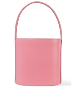 pink bissett leather bucket bag
