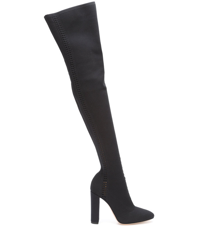 black kninero boots