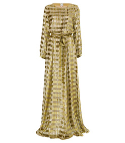 gold adele llong dress