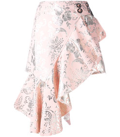 pink belted wrap skirt