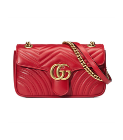 red gg marmont quilted shoulder bag
