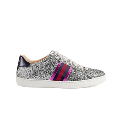 metallic ace glitter sneakers