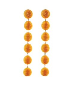 orange 'dont worry' 6 drop earrings
