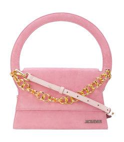 pink le sac rond handbag