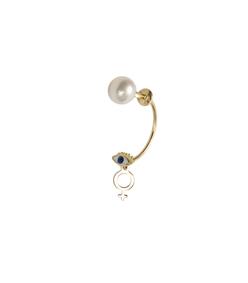 gold m2m micro-eye piercing earring