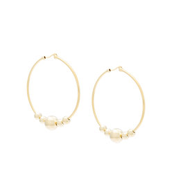 gold large ring earrings