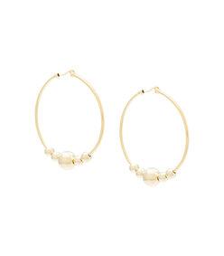 gold large ring earrings