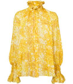 yellow silk georgette shirt