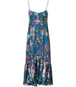 mutlicolor floral midi dress