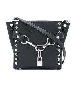 black attica chain mini satchel bag