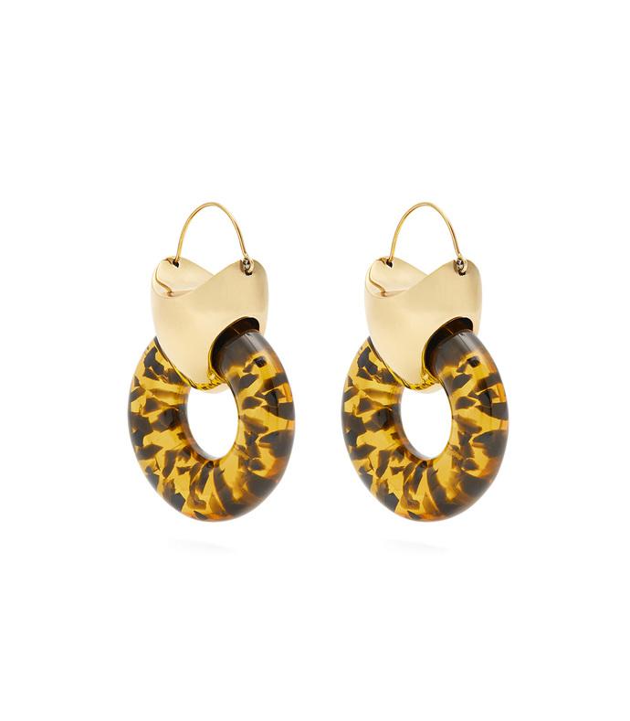 gold hush tire earrings
