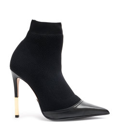 black aurore knitted ankle boots