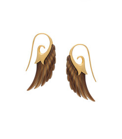 gold fly me to the moon earrings