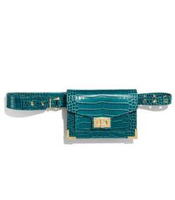 emily embossed leather belt bag