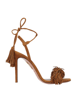 ShopBazaar Aquazzura Wild Thing Suede Sandal MAIN