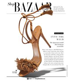 ShopBazaar Aquazzura Wild Thing Suede Sandal FRONT