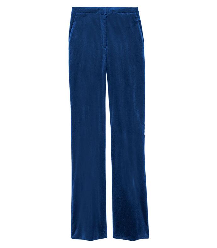 nettle velvet flared crop pants