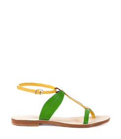 green & yellow 'banana' sandal