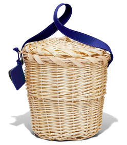 blue small birkin basket