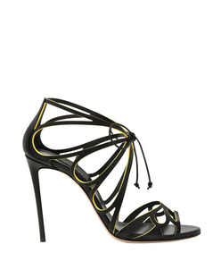 ShopBazaar Casadei Black Strappy Sandal MAIN