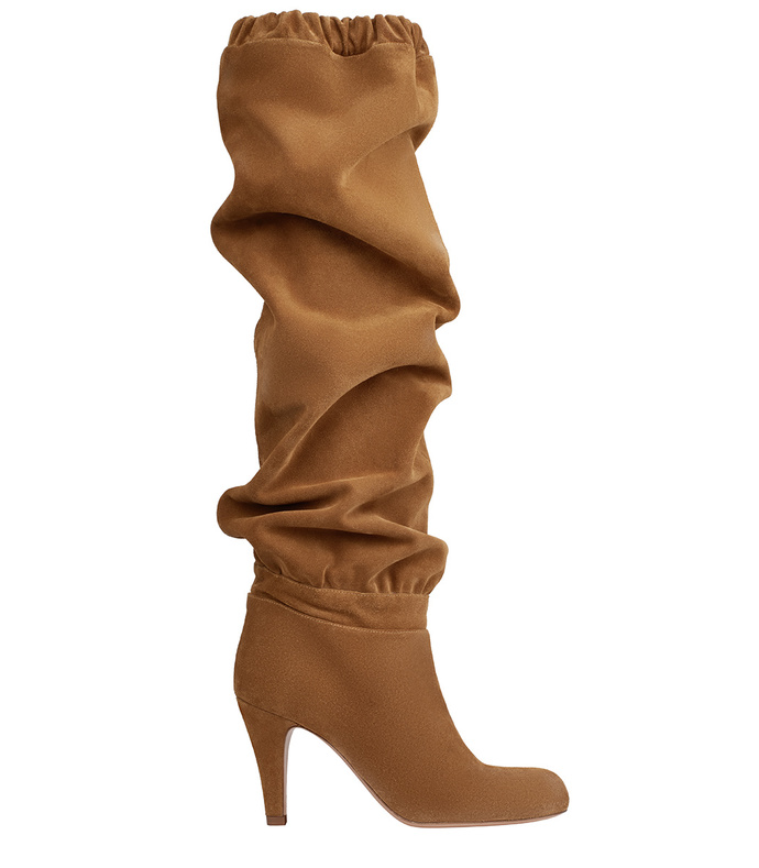 dune 'lena' thigh-high suede boot