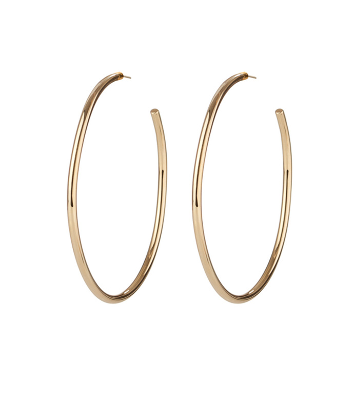 gold classic round hoops