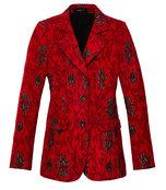 red & black floral blazer