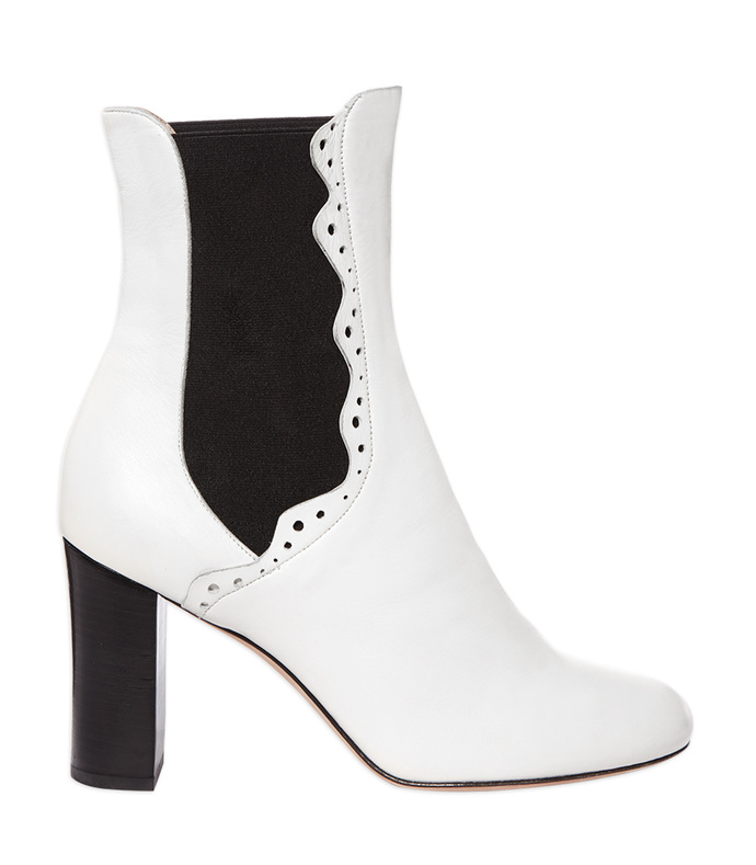 white & black 'noor' bootie