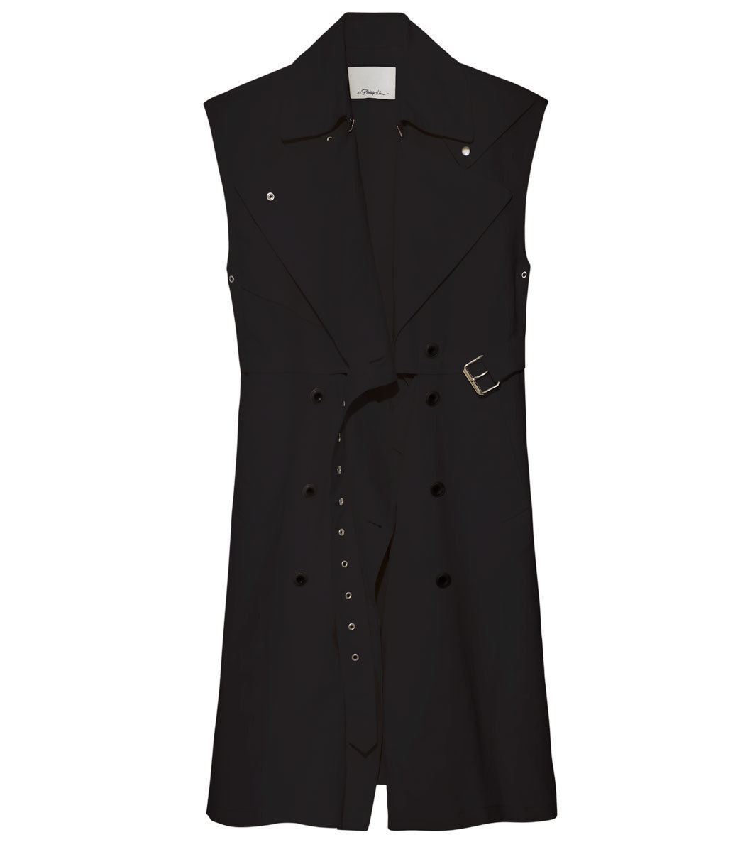 Utility Belted Trench Vest