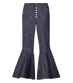 navy 'hysteria' flared pants