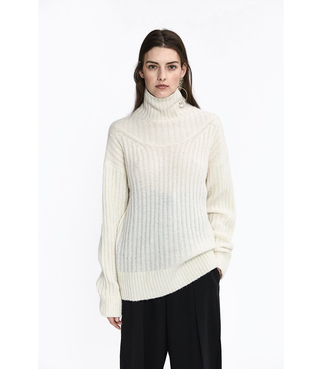 55db2d2e2c97 3.1 Phillip Lim Cable Turtleneck Sweater In Neutrals