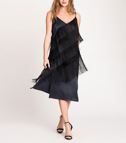 fringed up dress
