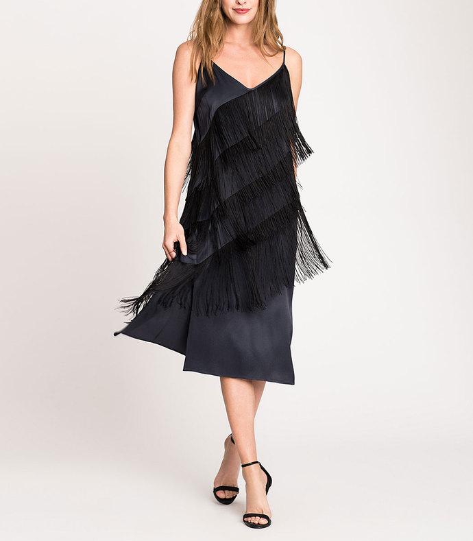 fringed up dress